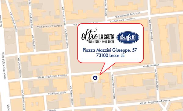 Oltre La Carta Lecce - Buffetti Mappa